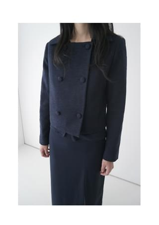 square neck tweed jacket (2colors)