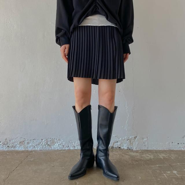 Pleated julie miniskirt