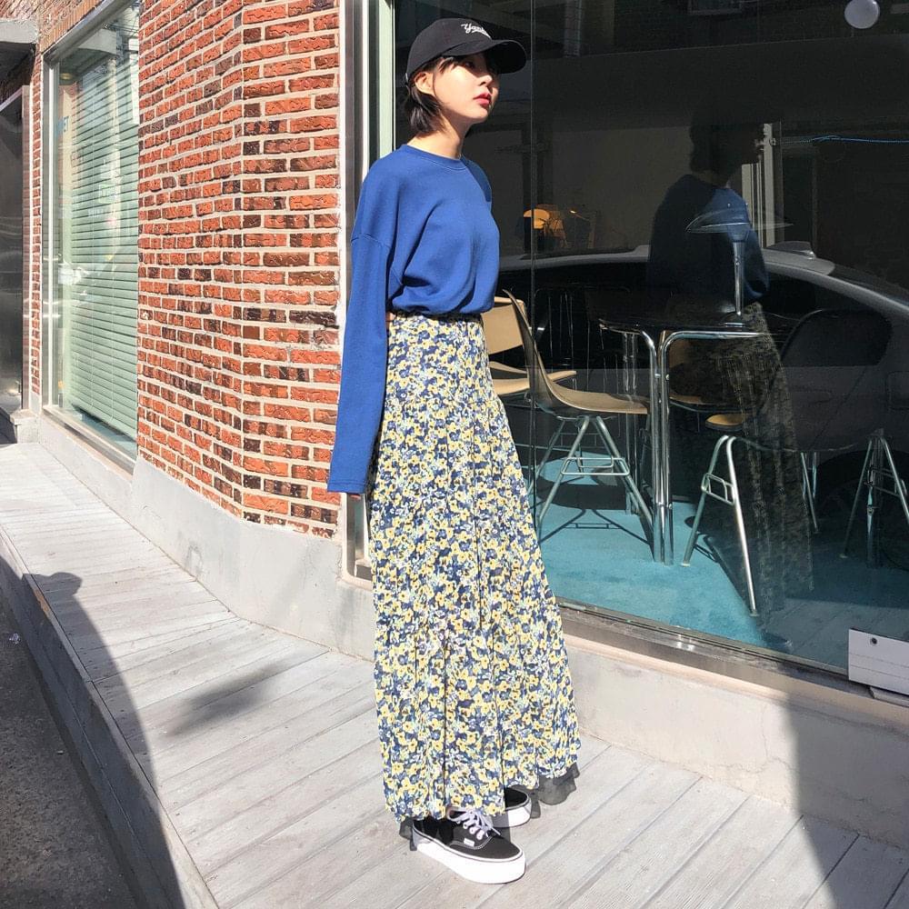 Flower Chiffon Cancan Skirt