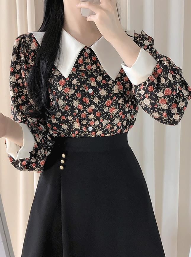 Mary & Kara Flower Blouse blouses