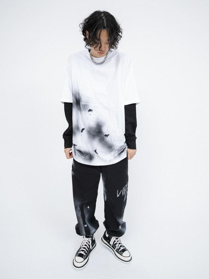 spray over 1/2 T - men 短袖上衣