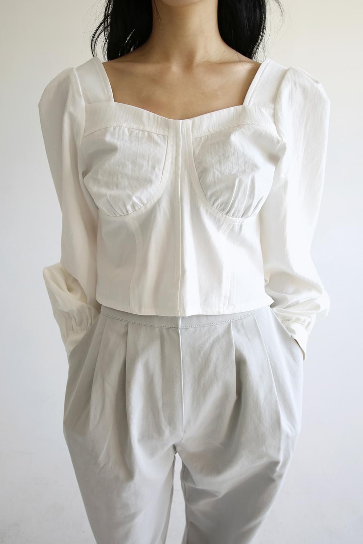 bustier crop blouse