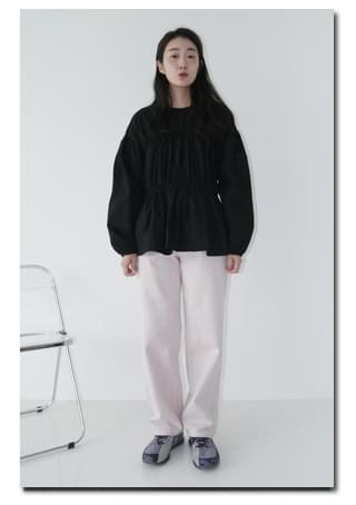 soft straight cotton pants パンツ