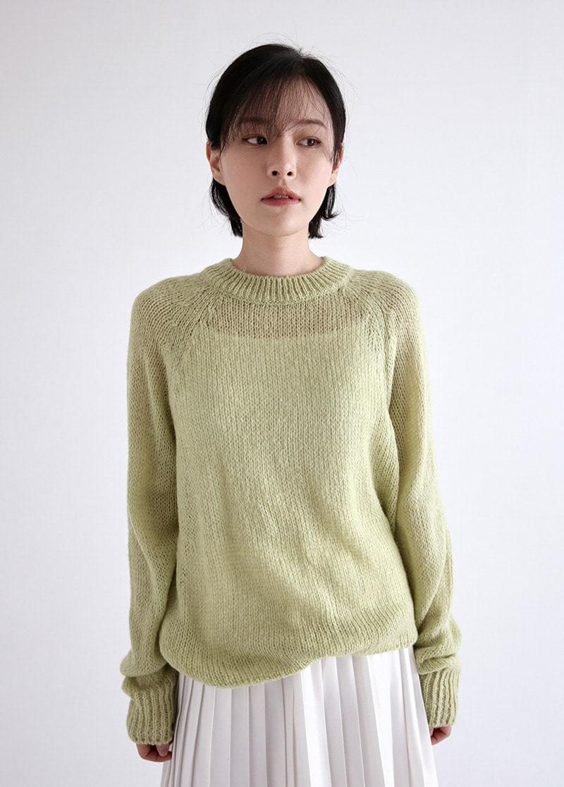 See-through net knit