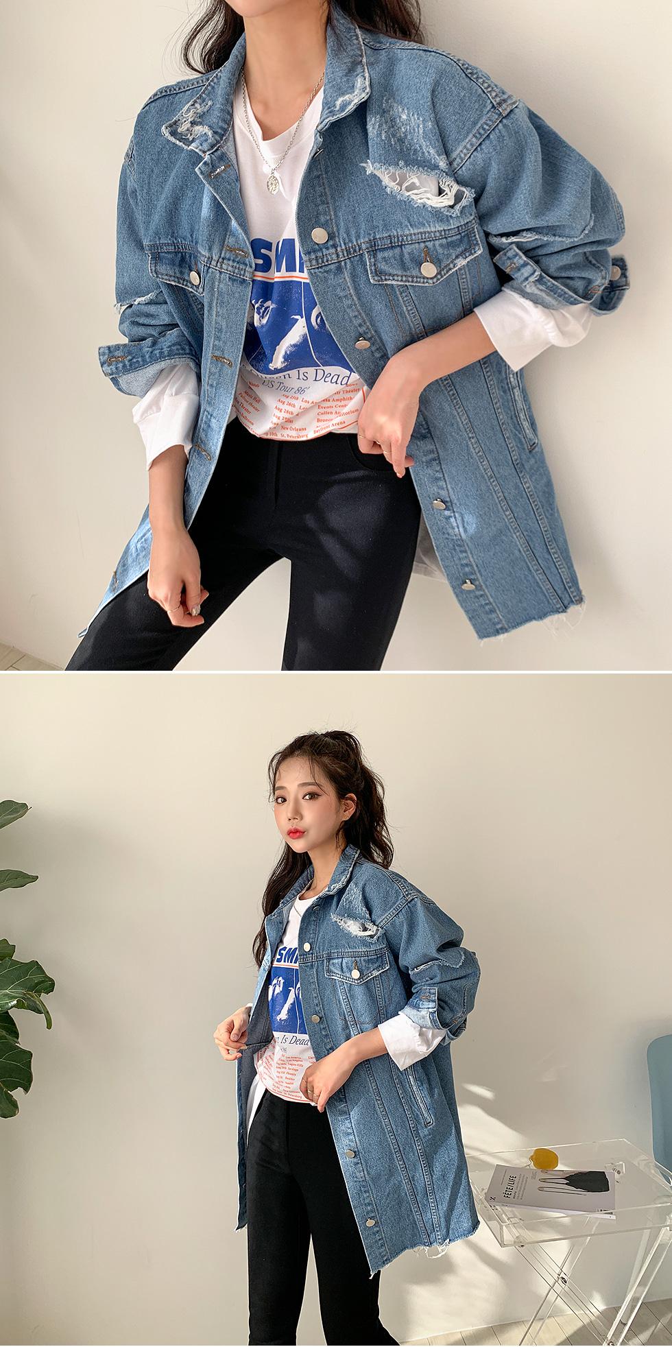 With Vintage Blue Jacket