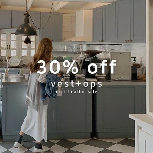 Salt V-neck overfit knit vest + rib basic slit long shirt dress 套裝