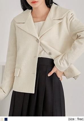 SAILOR COLLAR TWEED JACKET