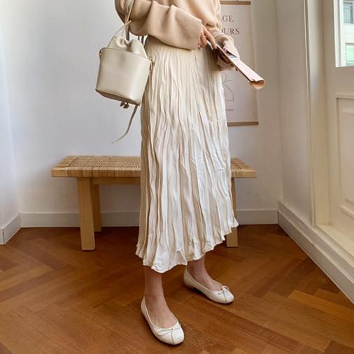 Delhi Wrinkle Long Skirt 裙子