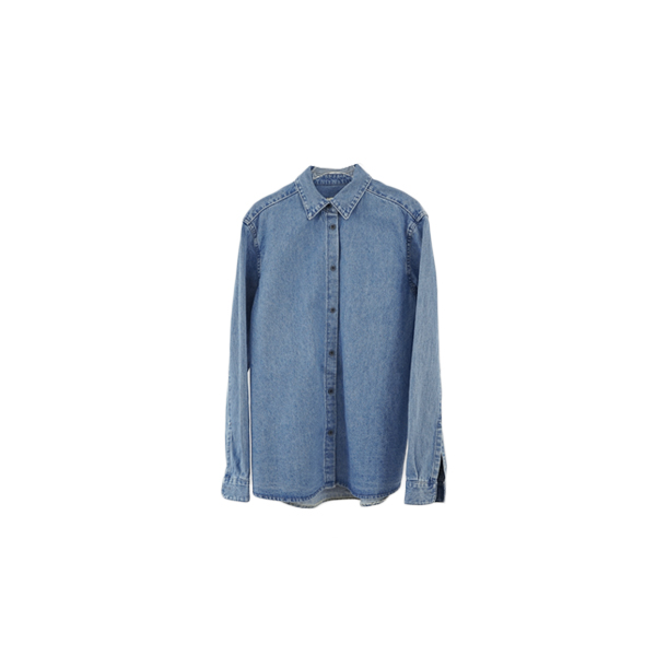clean standard denim shirt