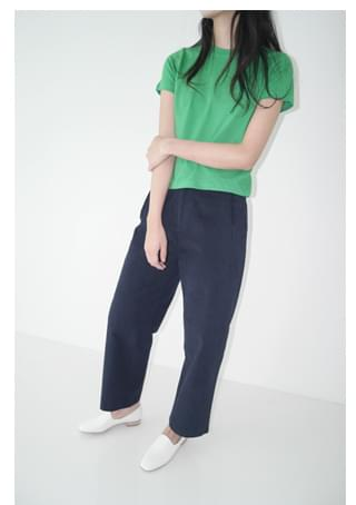 calm pintuck detail pants パンツ