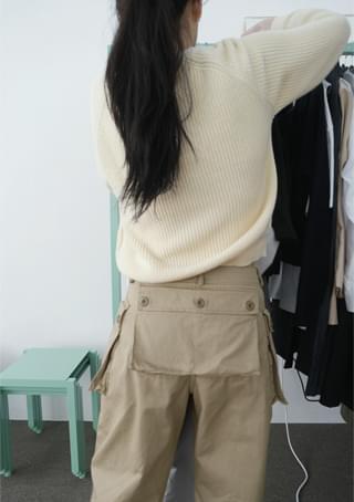 soft raglan flat knit ニット