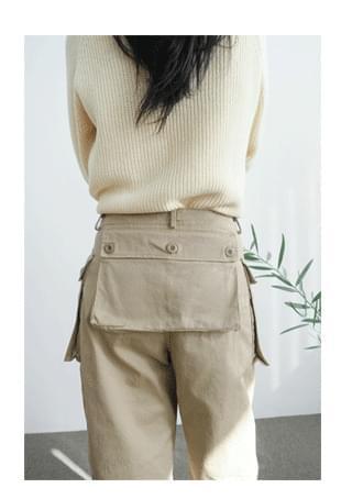 cargo big pocket cotton pants パンツ