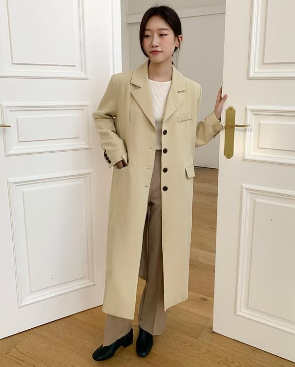 butter classic single long jacket ジャケット