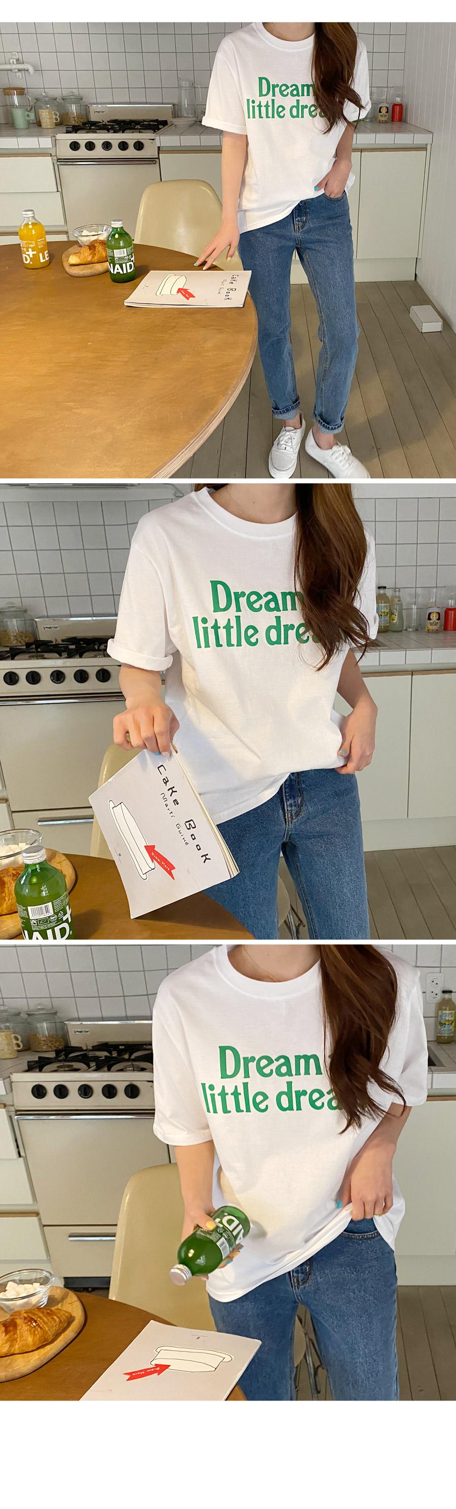 Little Lettering Short-sleeved T-shirt