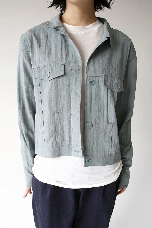 matt satin crop jacket