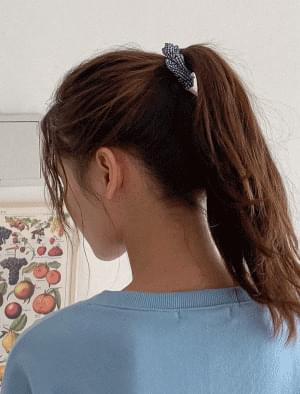 7-color point check hair strap