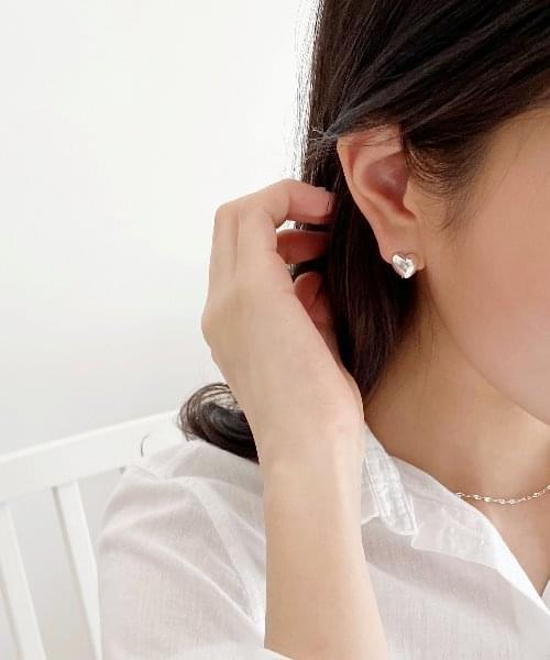 (silver925) lovely onetouch earring