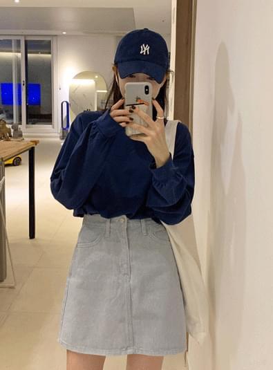 Cotton mini a sk 裙子