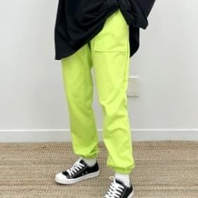 Two-lined pocket jogger pants pants