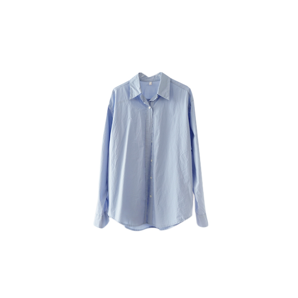 semi over-fit cotton shirt