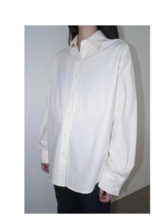 semi over-fit cotton shirt ブラウス