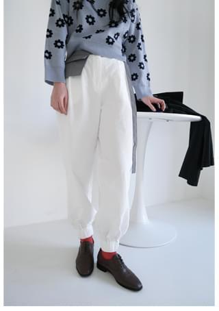 crispy cotton jogger pants パンツ
