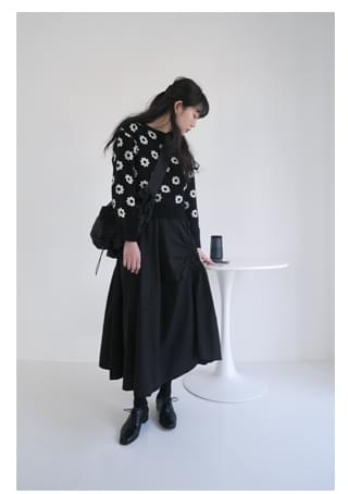 shirring banding cotton skirt