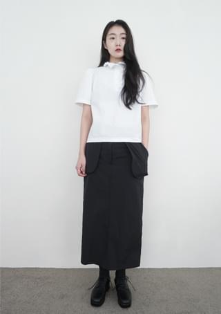 out pocket H-line skirt スカート