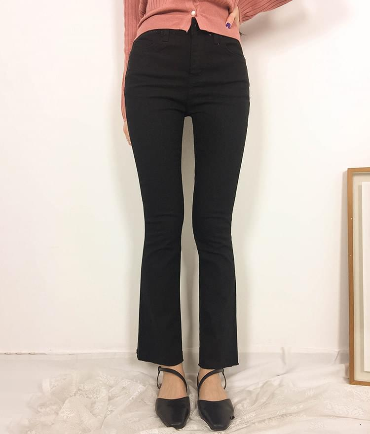 Slim Bootcut Cotton Pants