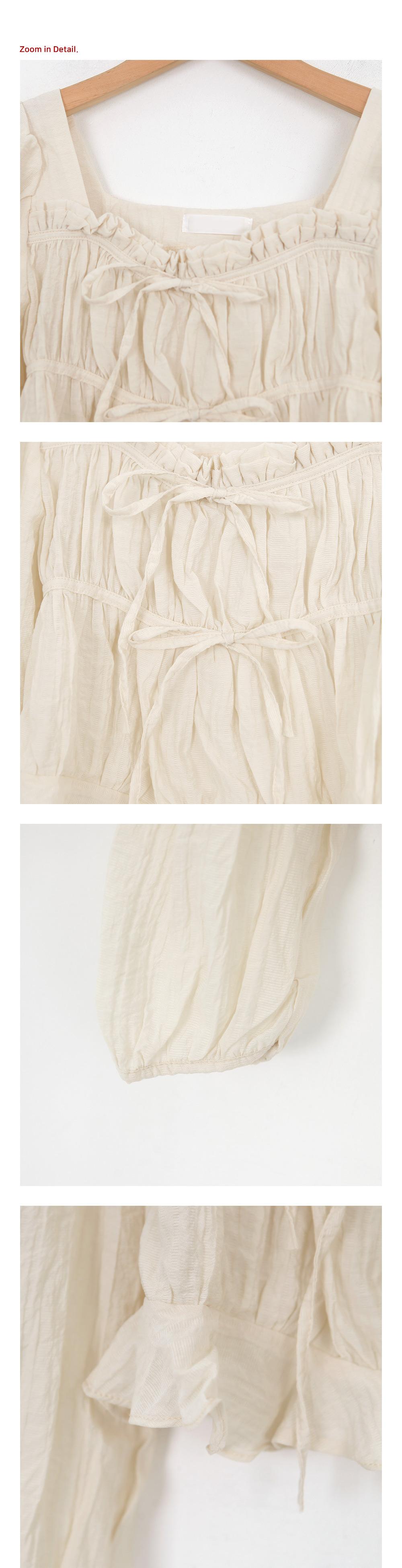 Wrinkle Ribbon Strap Blouse