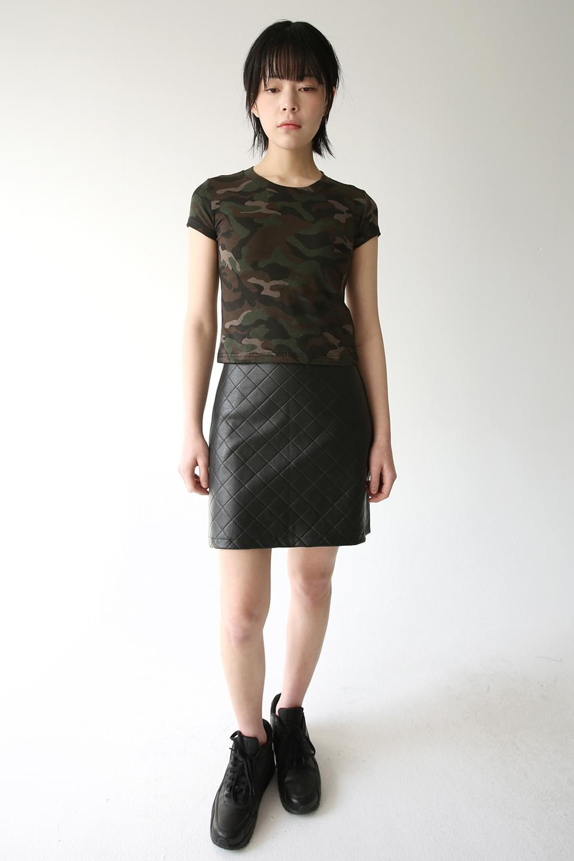 dia leather mini skirt