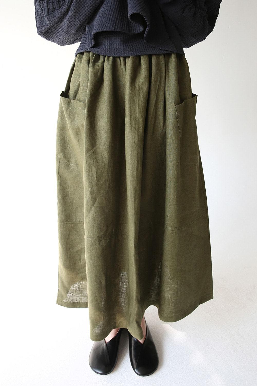 flare linen easy skirts