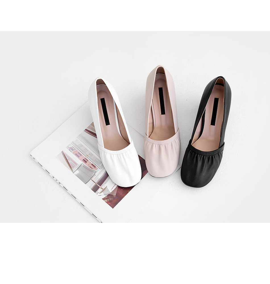 Nelvia Shirring Middle Hill Pumps 6cm