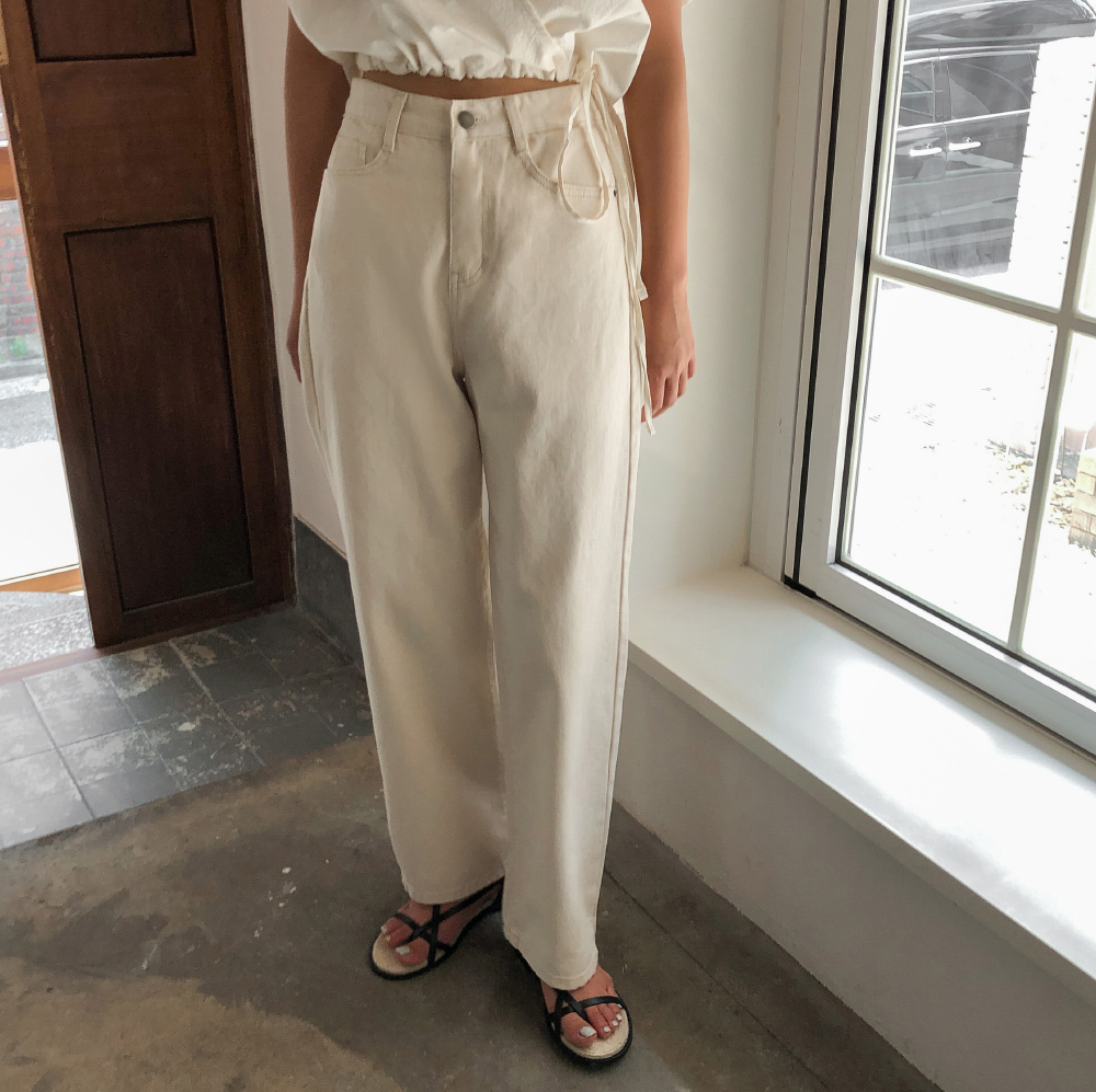 Soft wide cotton pants
