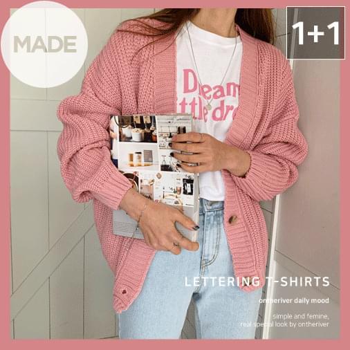 Little Lettering Short Sleeve T-Shirt 1 + 1