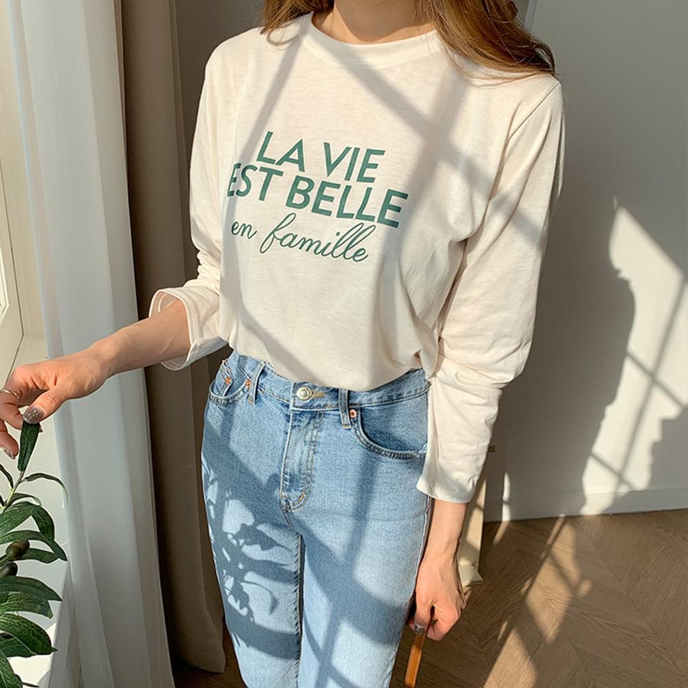 Lisbell Lettering T-Shirt 長袖上衣