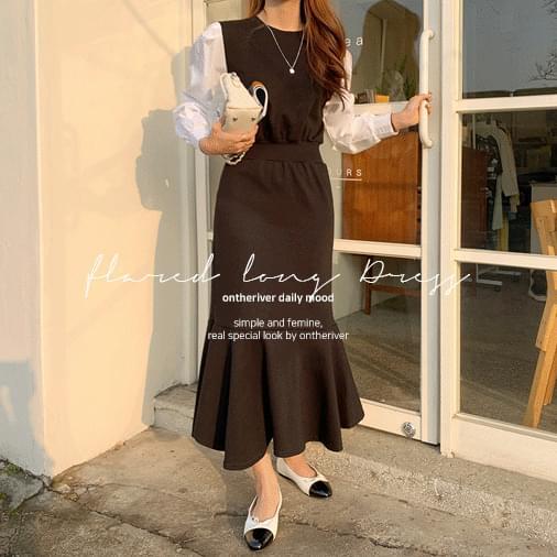 Celine Shirt Flared Long Dress