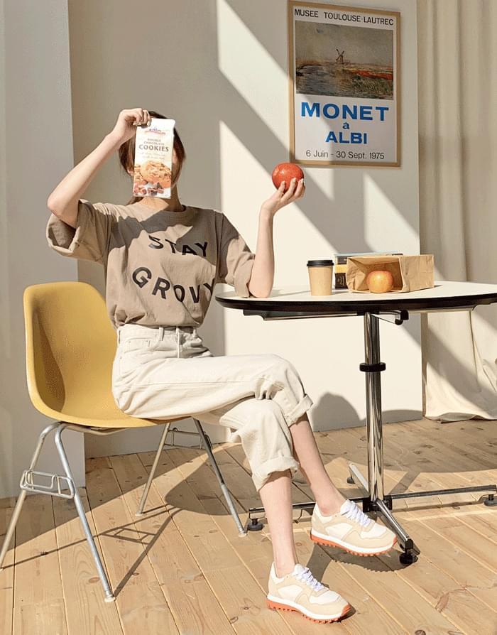 그로비 루즈핏 반팔 티셔츠