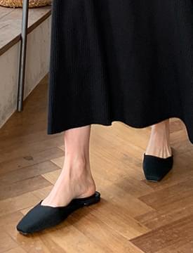 Square toe flat mule_A (size : 225,230,235,240,245,250)