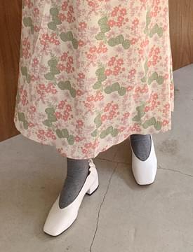 Lounge back shirring shoes_J (size : 225,230,235,240,245,250)