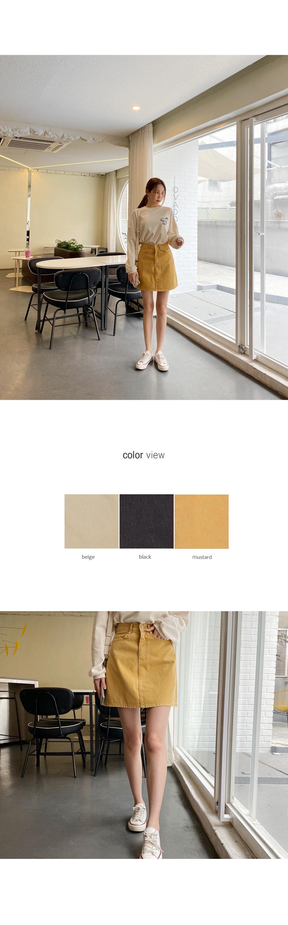 Pigment Wash Mini Skirt