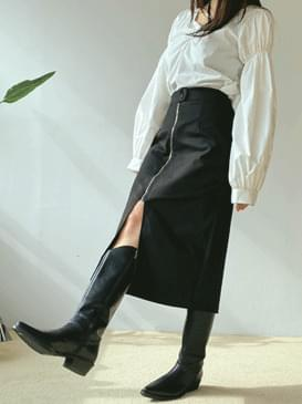 Zip-tipped Awesome Long Skirt スカート