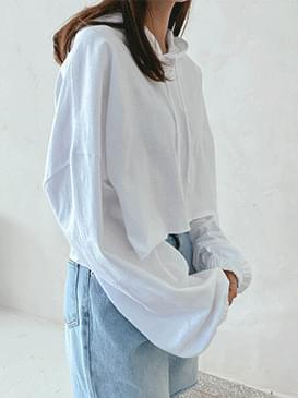 Cropped Hooded T-shirt 長袖
