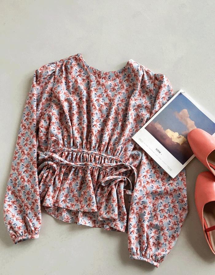 韓國空運 - Flower dowel blouse 襯衫