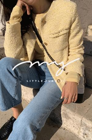 My-littleclassic/ Lemon-라운드 트위드자켓