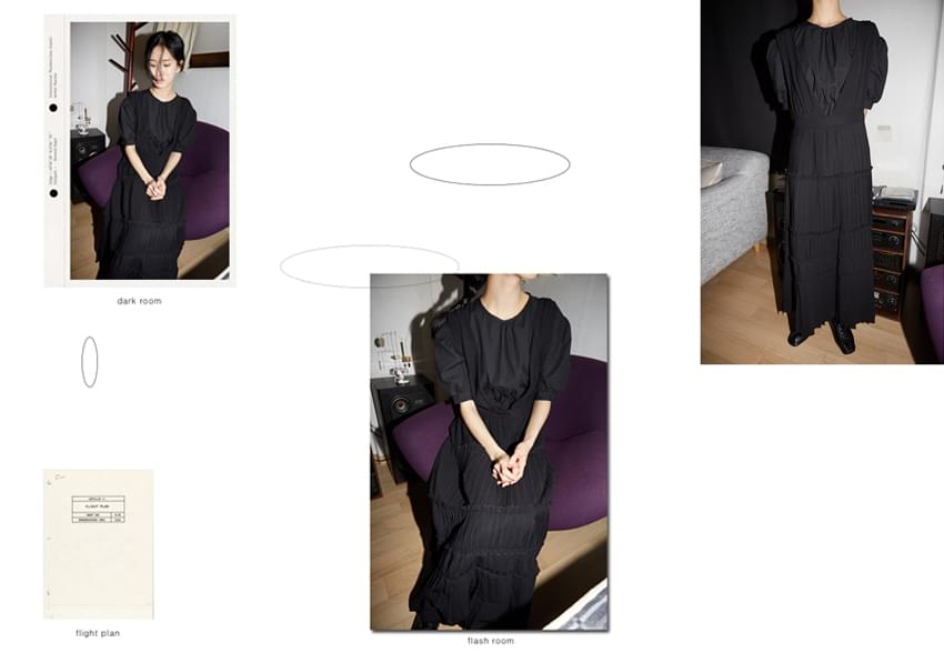 pleats slip dress