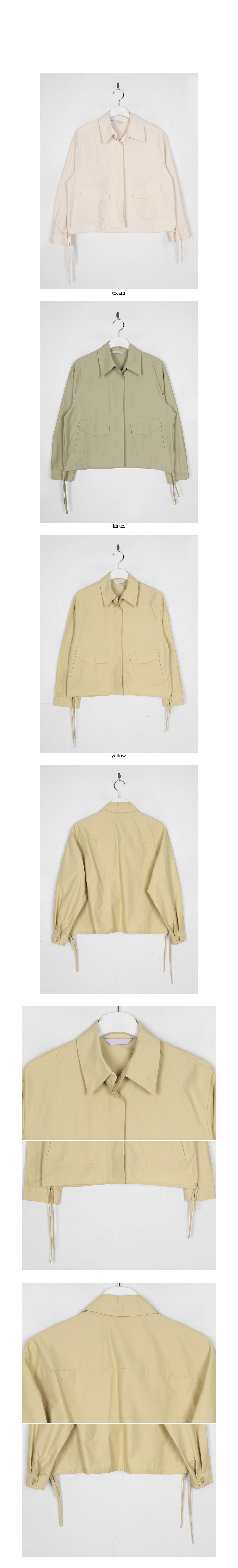 down collar minimal jacekt