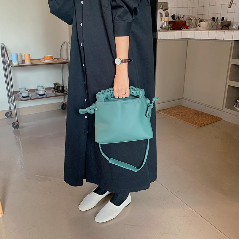Shirring strap two-way bag_J