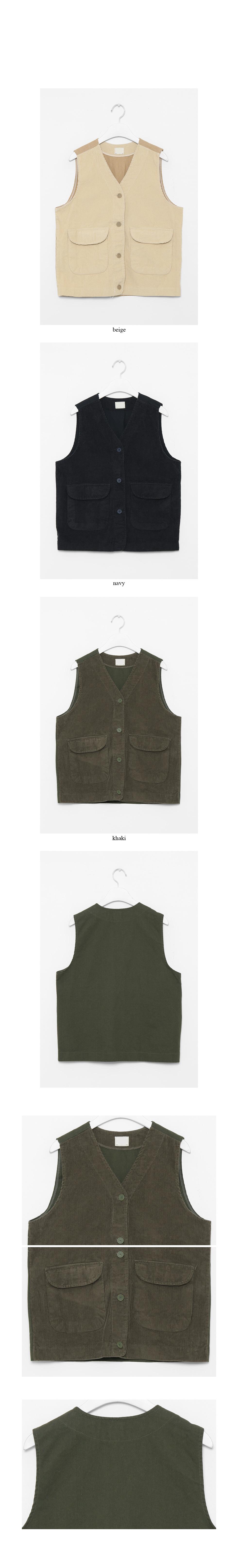 corduroy boy vest