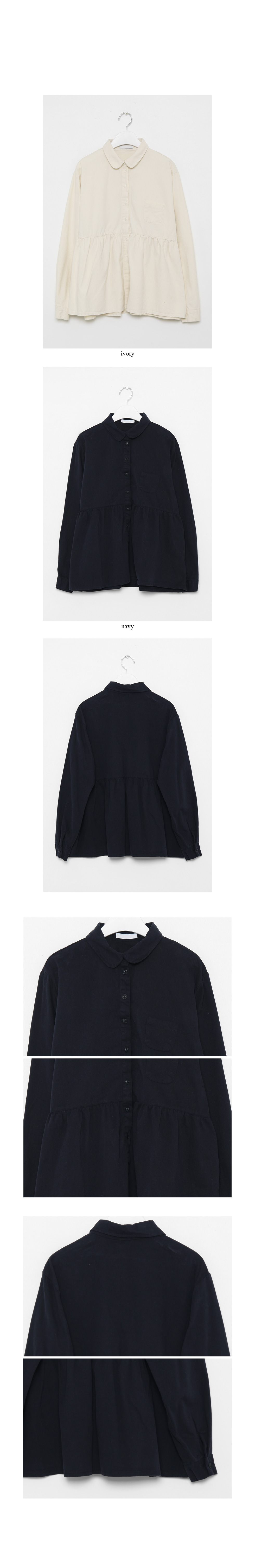 frill cozy blouse